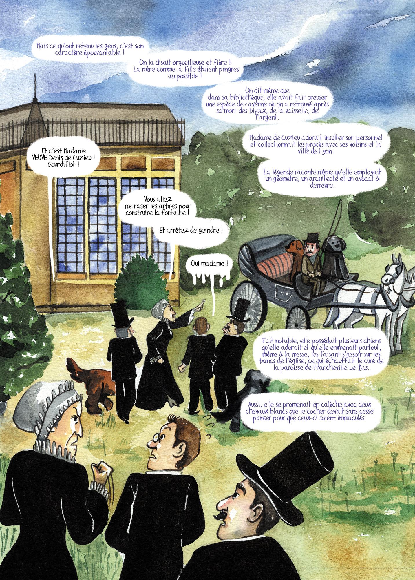 Bibliothèque Ste Foy Les Lyon la dame du plan du loup – emy, illustration bd